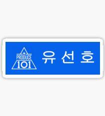 Yoo Seonho Produce 101 name tag Sticker