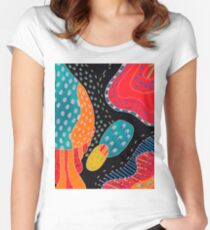 Dots and lines Women's Fitted Scoop T-Shirt