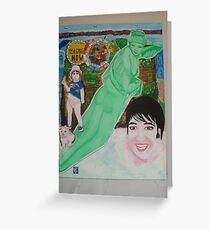 The Beatles & Sisters Australiana 1964 : Nude Divine Greeting Card