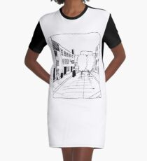 Lonely Streets Graphic T-Shirt Dress