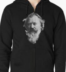 Johannes Brahms, great German composer Zipped Hoodie