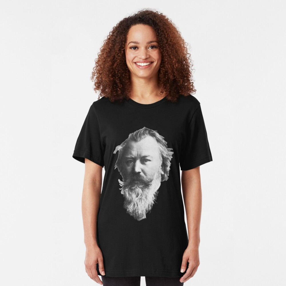 Johannes Brahms, great German composer Slim Fit T-Shirt