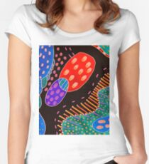 Colorful doodle Women's Fitted Scoop T-Shirt