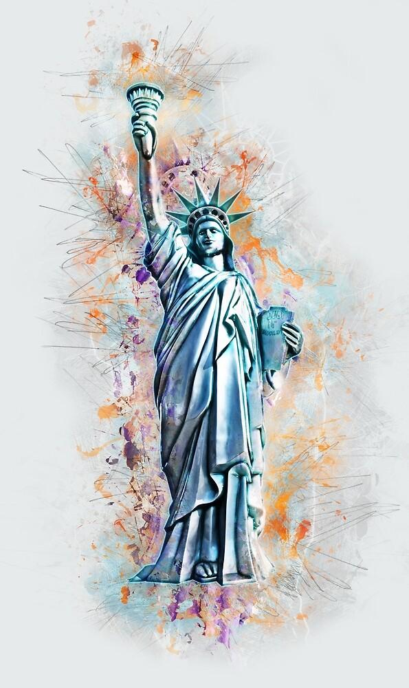 Liberty, USA, America - Freiheitsstatue, Amerika by STYLESYNDIKAT