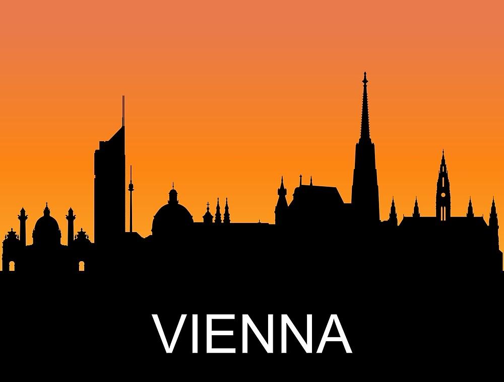 Vienna, Austria, romantic sunset, travel sticker by AmorOmniaVincit