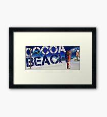 "Cocoa Beach. ""RIP Wayne"" Mai Tiki.  Framed Print"