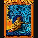 BANZAI PIPELINE NORTH SHORE OAHU HAWAII by Larry Butterworth