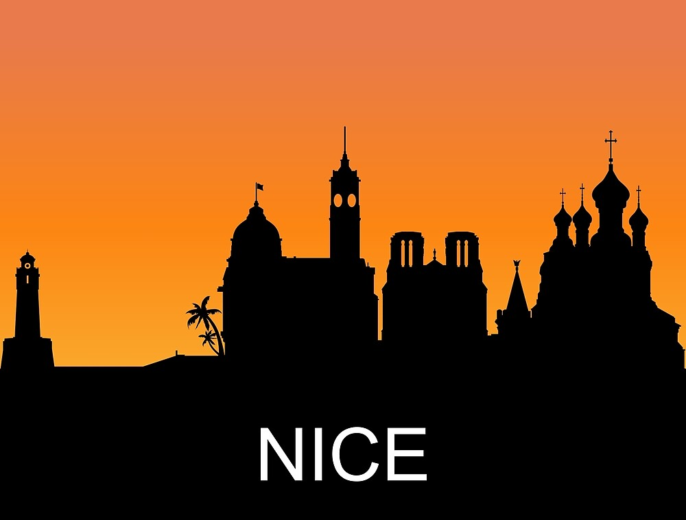 Nice, France, romantic sunset, travel sticker by AmorOmniaVincit