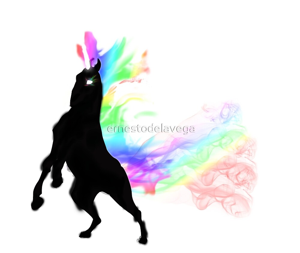Wild rainbow unicorn by ernestodelavega