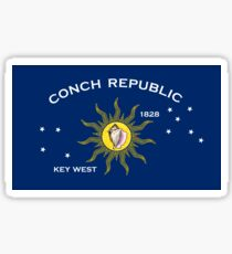 Flag of the Conch Republic (Key West, Florida) Sticker