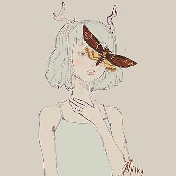 Moth Person by milkytart