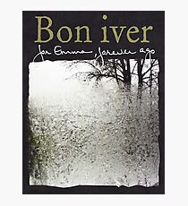 Bon Iver - For Emma Forever Ago Photographic Print