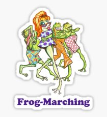 Frog-Marching Sticker