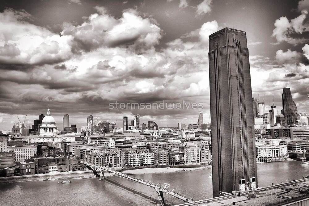 View from the Tate by stormsandwolves