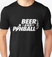 Beer Drinking and Pinball Machine Playing Unisex T-Shirt