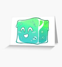 Giggly Gelatinous Cube  - Cute D&D Adventures Greeting Card