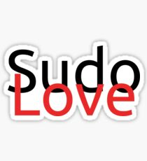 Sudo Love Sticker