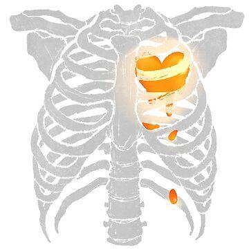Skeleton Heart - Inside (White) by primomon
