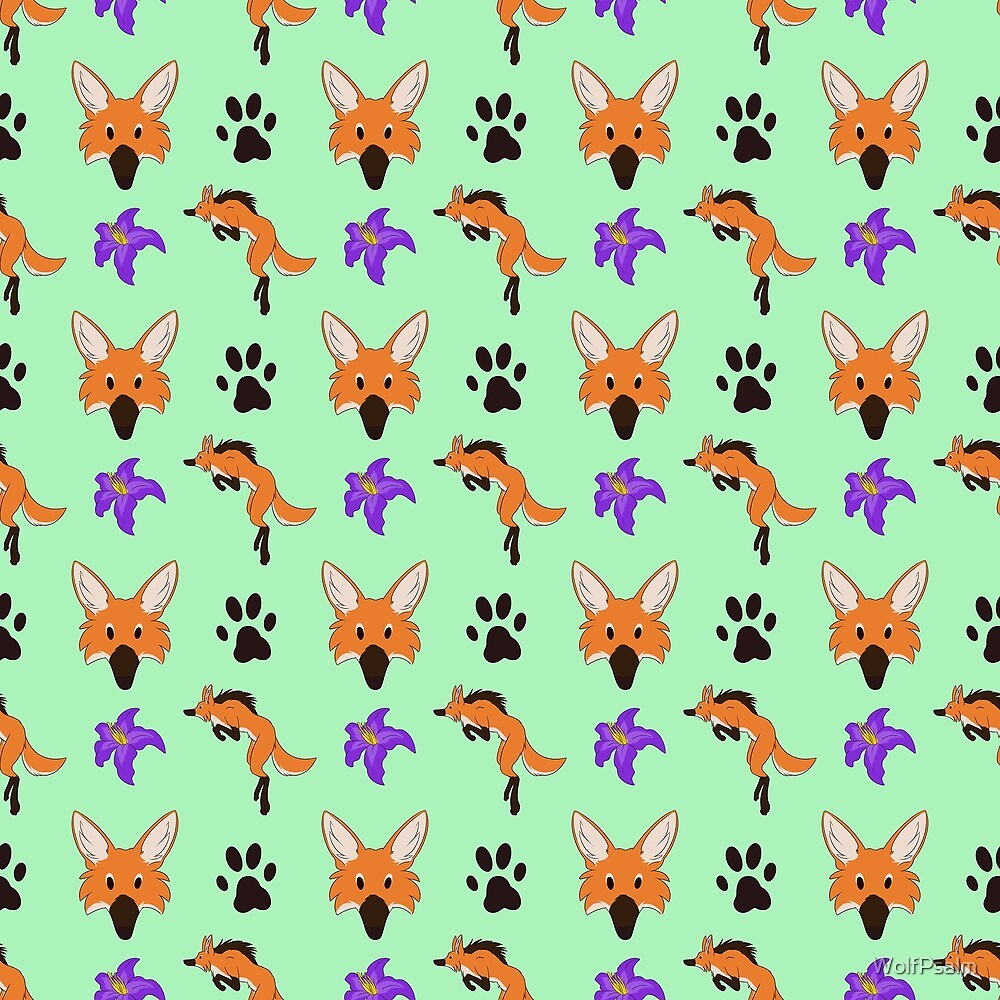 Maned Wolf Pattern by WolfPsalm