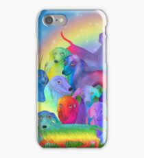 Rainbow Doxies 1 iPhone Case/Skin