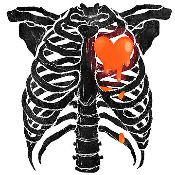Skeleton Heart -  Red by primomon