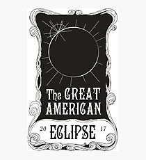 Great American Eclipse: Mucha Photographic Print