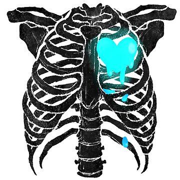 Skeleton Heart - Blue by primomon