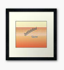 South Padre Island, Texas | Surf Stripes Framed Print