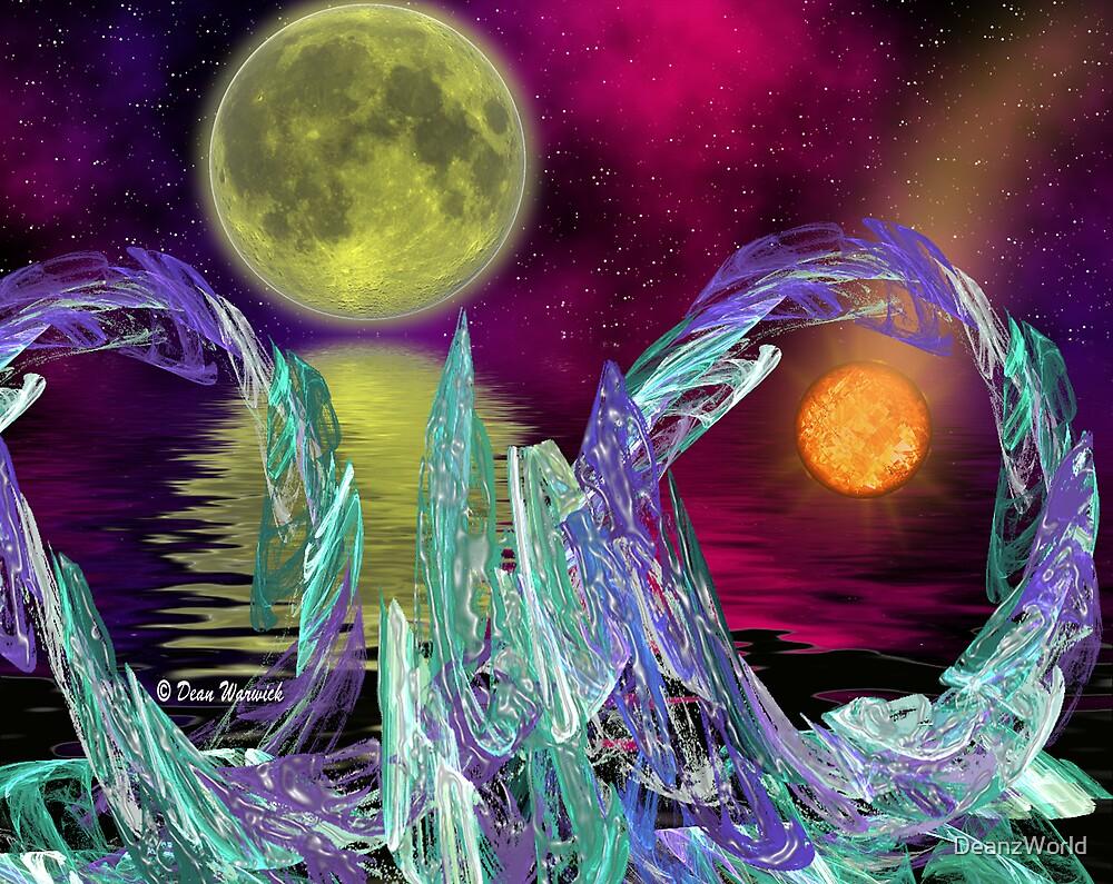 Alien Landscape - Familiar Moon by Dean Warwick