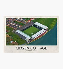 Vintage Football Grounds - Craven Cottage (Fulham FC) Photographic Print