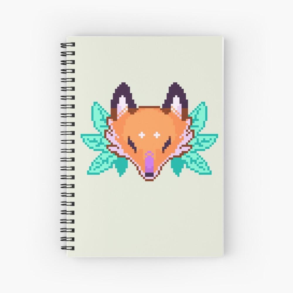 Pixel Fox Spiral Notebook