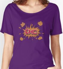 Retro OMG Comic Badge Women's Relaxed Fit T-Shirt