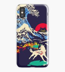 The Great Wave off Oni Island iPhone Case