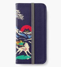 Die große Welle vor Oni Island iPhone Flip-Case/Hülle/Skin