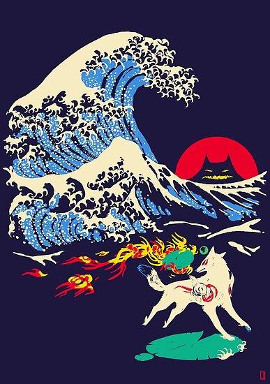 Die große Welle vor Oni Island von carbatine