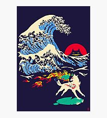 The Great Wave off Oni Island Photographic Print