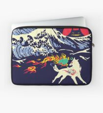 The Great Wave off Oni Island Laptop Sleeve