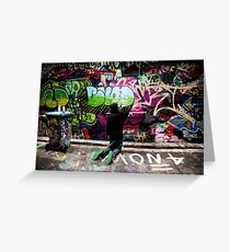Color Coordinated-Graffiti  Melbourne Greeting Card