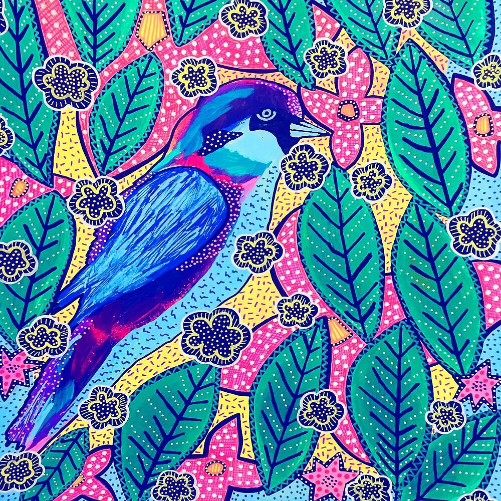 Blue Bird Tropics by hatvail