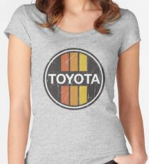 Toyota 1970s Scheme Women's Fitted Scoop T-Shirt