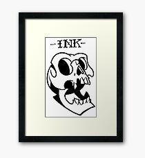 Ink, neotraditional skull Framed Print