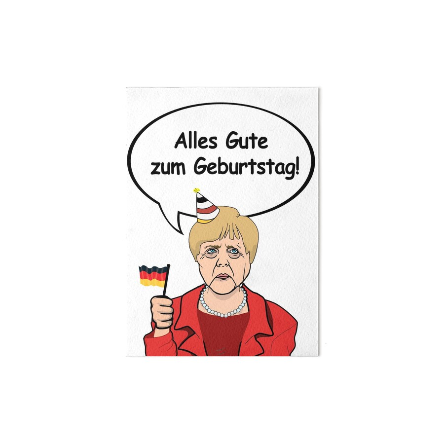 alles gute zum geburtstag from angela merkel art boards by popdesigner redbubble. Black Bedroom Furniture Sets. Home Design Ideas