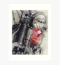 Harley Motorcycle, Vintage Harley, Vintage Motorcycle, Retro Motorcycle, Motorcycle Art, Biker Gift Art Print