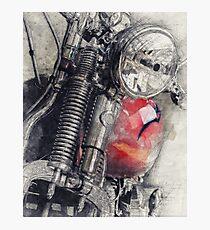 Harley Motorcycle, Vintage Harley, Vintage Motorcycle, Retro Motorcycle, Motorcycle Art, Biker Gift Photographic Print