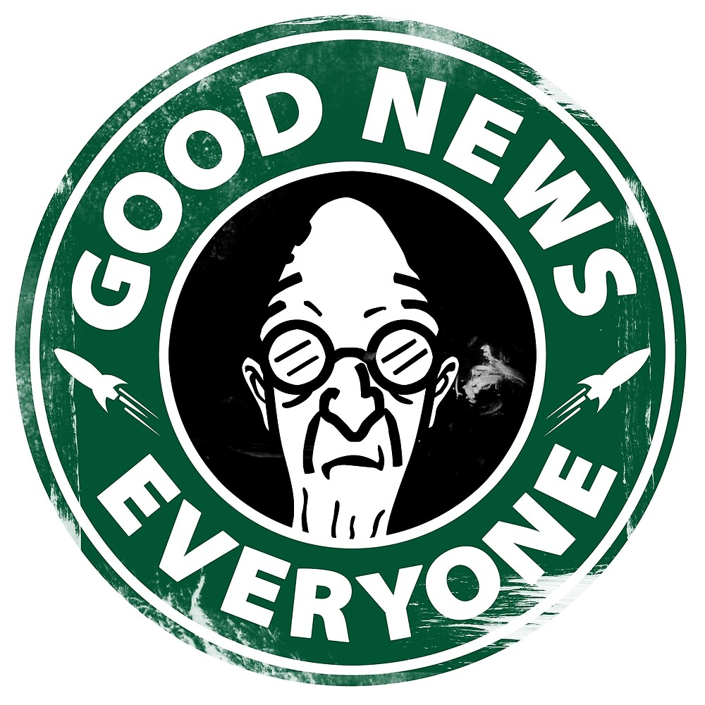 Good News Everyone Coffee White by lleganyes