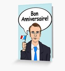 Bon Anniversaire from Emmanuel Macron Greeting Card