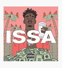 21 Savage ISSA Album Cover  Photographic Print