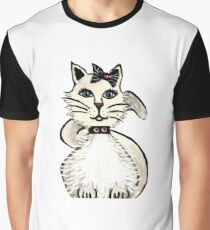 Mrs Prrfect Prissy Diva's Kitty Collection- Blue eyes/No Words Graphic T-Shirt