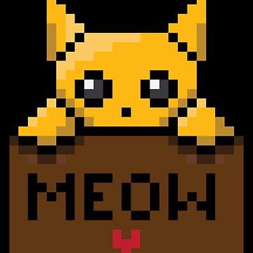 Pixel Kitten in Box by 3nvy