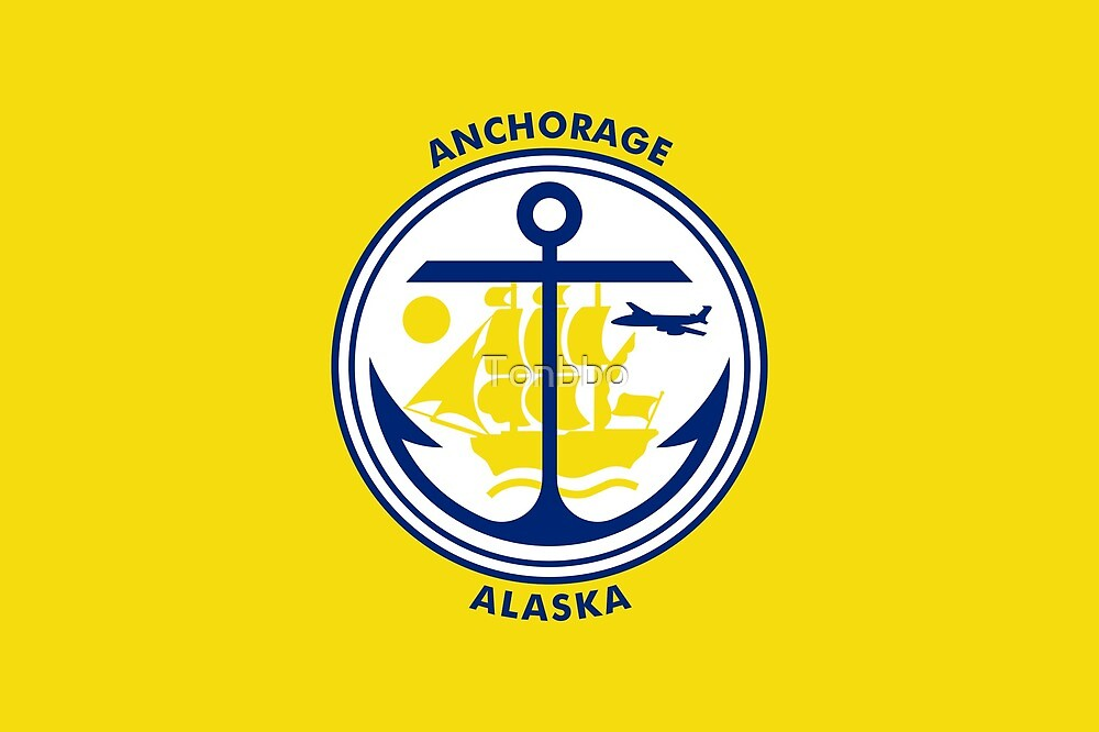 Flag of Anchorage, Alaska by Tonbbo
